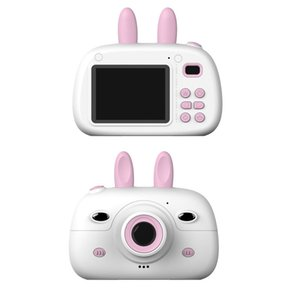 Children Mini Camera Full HD 1080P 2.4inch Cartoon Cute 1800W Dual Lens Kids Camera Birthday Gift Toys For Children T200602