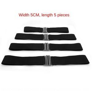 Black wide belt simple all-match down jacket women's elastic waist seal with Down Jacket Women's alloy buckle skirt