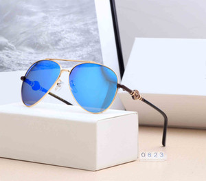 Designer Sunglasses Luxury Sunglasses Fashion Brand for Women and men Glass Rectangle Driving UV400 Adumbral with Box VE0823 High Quality