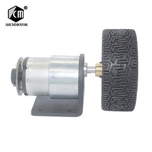 10pcs 12 v 24 v DC Gear Motor Com Hall JGB37-520 Acoplamentos Codificador Roda kit Para DIY Robô Inteligente