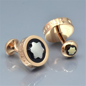 high quality 3 Colors rounded mb groom shirt Cufflink fashion jewelry man wed Copper Cuff links Gift