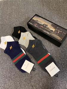 Atacado Mens Designer Sock Homens de alta qualidade Designer Curto meias de algodão Mistura confortável adolescentes Meias Student Underwear Tamanho