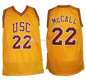 Omar Epps Quincy McCall 22 USC Colegio Amor de Carrera y cosido de baloncesto retro de baloncesto hombres del jersey de encargo cualquier Número Nombre jerseys