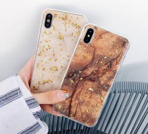 NUOVA BUONA Luxury Gold Foil Bling marmo della cassa del telefono per l'iPhone 11promax X XS Max XR TPU per iPhone 7 8 caso di scintillio Più