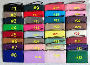 Kordonlu PU Deri Cüzdanlar Fermuar Çanta Debriyaj Çanta Kadın Kredi Kartı Nakit Para Kılıfı Kozmetik Çanta Moda Mini Çanta