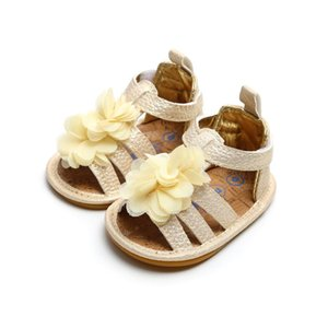 Flower Lace Moda Kid borlas Sandália Adorável Infant Baby Girl macia Sole Criança sapatos antiderrapantes Sandals Mocassim Shoes