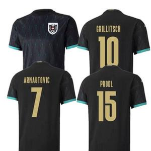 2020 Austria Soccer Jersey Away Black #10 GRILLITSCH Soccer Shirt Mens #7 ARNAUTOVIC #15 PRODL Football Uniform