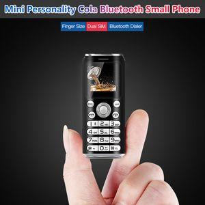 Débloqué mini téléphone portable intelligent SATREND K8 1 pouce écran minuscule enregistreur d'appels Téléphone numéroteur Bluetooth le plus petit Dual Sim Cartoon téléphones mobiles