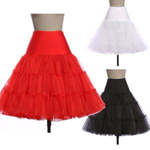 Vintage Düğün kabarık etek Jüpon Kadınlar Etek 8922 için 5 Colours Siyah Beyaz Kız Balo Kayma Rockabilly Petticoat