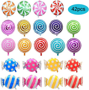 """42 PC 18"""" süße Süßigkeit Luftballons, rund Lollipop Ballon, Geburtstag, Hochzeit, Luftballons Party, Party Supplies"""
