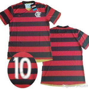 flamengo Retro 2008 2009 maillots de football 08 09 Numéro de nom personnalisé 10 peut personizal complet commanditaire grande taille XXL chemises de football flamand