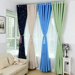 Estrelas brilhantes Crianças pano da cortina por Menina Menino Crianças Quarto Sala Cortina azul / rosa Blackout Cortinas Decoração