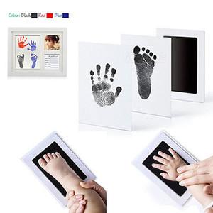 Hot recém-nascido Pegada Ink Pad Handprint Non-Toxic Clean-Toque Pearhead Inkless lembrança Treasure memórias