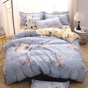 Flower Duvet Cover Set Bed Linens Pillowcase 3 4pcs Bedding Set, Comforter Quilt Blanket case Twin Queen King double single