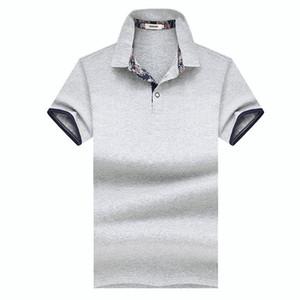 TFETTERS 2019 Yaz Yeni Rahat Erkekler T-shirt Kısa Kollu Turn-down Iş T-shirt Erkekler Ince Katı Pamuk Giyim