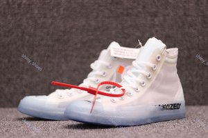 2020 xshfbcl new fashion Off Conver Canvas shoes all white blue zapatos men and women jogging shoes 1970S Star sports shoes 36-45