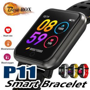 Jmpoz P11 Smart Watch Мужские спортивные часы цветной экран сердечного ритма артериальное давление многофункциональный IP68 Водонепроницаемый многоязычный