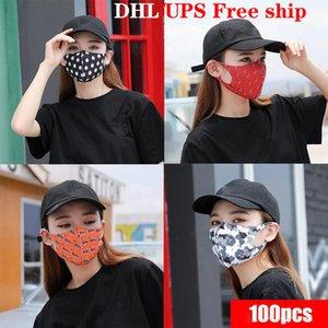 DHL liberano il trasporto di lusso del partito della maschera di protezione antipolvere lavabile respiratore Stampa Moda Maschere per uomini e donne