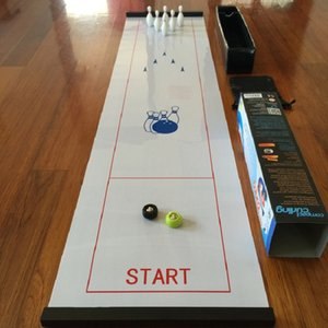 Tabletop Bowling ball Board Game Mini Table Games for Travel Bar School Training family Puzzle Children' Game Toys 28*120cm Y200421