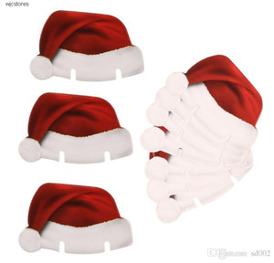 Friendly Christmas Wine Glass Marker Red Eco Hat Santa Claus Set Style Drink Charms Markers Festival Party Decoration Label 0 15py jj