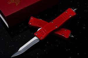 Özel Teklif 7 Inç Küçük Kırmızı Mikro 616 Oto Taktik Bıçak 440C tek Titanyum Bıçak EDC Cep Bıçaklar erkekler için Noel hediyesi