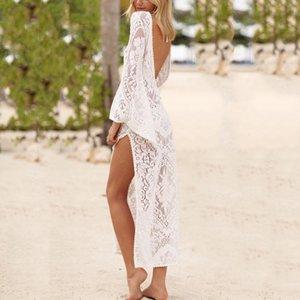 Платье Сексуальное Кружево Reveal Назад Песчаный Пляж Юбка