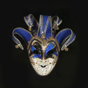 Peinture à la main fissure mascarade masque halloween hommes créatifs