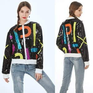 Multi Style Womens Sequin Long AKA 08 13 Jackets Bling NightClub Stage Performance Clothing Hip Hop Short Outerwear & Coats