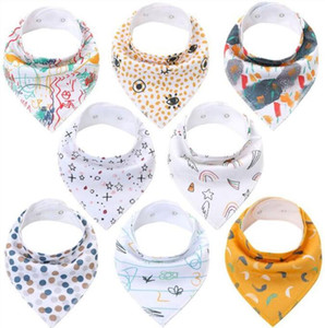 Bebé Bandana triángulo de los baberos de dibujos animados paños del Burp puro algodón estampado saliva Toallas moda bufandas de alimentación impermeable del delantal de Baba C7288