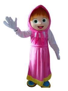 2019 heißer Verkauf Masha Mädchen Maskottchen Bär Ursa Grizzly Maskottchen Kostüm Cartoon Charakter Freies Verschiffen