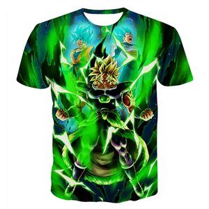 Super: Broly Super Saiya Son Goku Brolly stampato Tops Tees Camiseta Hombre Casual Tshirt manica corta