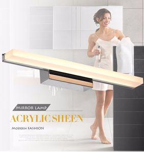 Longer LED Mirror Light 0.4M~1.5M AC90-260V Modern Cosmetic Acrylic Wall lamp Bathroom Lighting Waterproof Free Shipping
