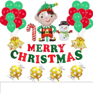 Christmas 16-inch unfilled Novelty balloons for party decorations in the family shopping center and other places