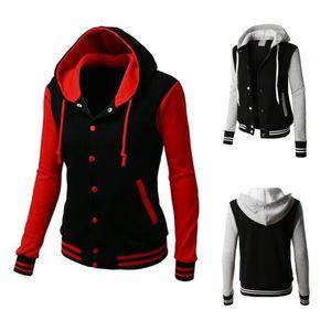 Zogaa 2019 Womens hoodies Women Hoodies Sweatshirts Long Sleeve Hoody Ladies Pocket Patchwork Female Baseball Jacket Hoodies Y200706