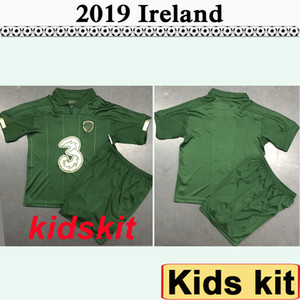 2019 European Cup Crianças Kit de Futebol Irlanda Selecção COLLINS McGoldrick Home Green Criança camisas do futebol Uniforme
