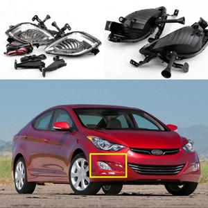 Auto OEM Style direkt Wiedereinbau Nebel-Lampen-Lichter für w / Birne + Switch + Wire + Bezel / 1Set für Hyundai Elantra 2010-2013