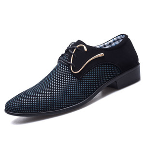 2019 Fashion Men's PU Bullock Wedding Shoes Business Men's Casual Flat Shoes Handmade Men's Oxford Shoes