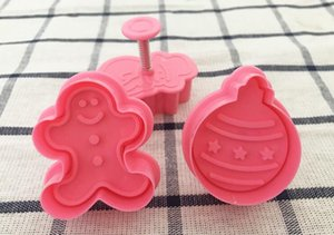 Xmas Biscuit Mould Halloween Christmas Fondant Cutter Xmas Biscuit Moulds New Year Baking Biscuit Mold FDA ABS LXL795Q