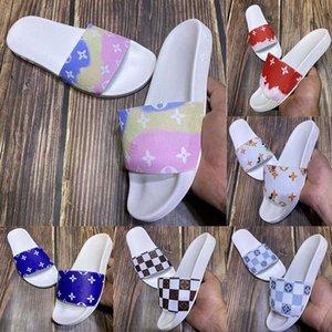Com caixa alta Chinelos Qualidade Sandals Slides calçados casuais Chinelos Sandálias Sapatos huaraches flip flops preguiçosos Scuffs Tamanho: 35-45 L851