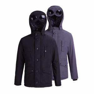 CP 2019 topstoney cpmpany Ağır Kış kukuletalı gündelik üst kat pamuklu erkek ceket Basit katı sıcak ceket gözlük