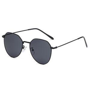New high-end polygon sunglasses Women's Men's Brand designer retro sunglasses gold transparent sunglasses sexy couple glasses small color