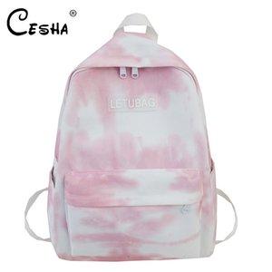 CESHA manera de las mujeres de lona resistente que viajan mochila escolar de alta calidad Mochila Pretty Girls Style Viajes Shopping