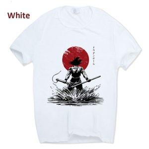 Dragon Ball Z Goku camiseta manga corta cuello redondo camiseta verano Saiyan Vegeta Harajuku marca ropa camiseta HCP316