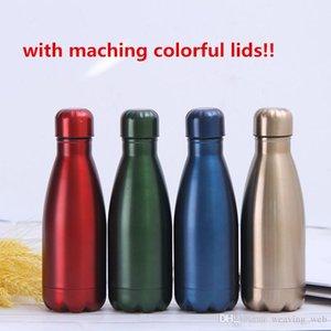 Американские фондовые 350-1000мл красочные крышки бутылки воды 1 слой бутылок колы 304 staliness сталь тумблер металлическая Спортивная бутылка с соответствуя, м