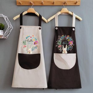 Carino cucina femminile grembiule cucina di casa impermeabile e olio a prova di stampa vita usanza giapponese