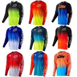 Tld vitesse combinaison de course moto chute VTT Jersey hors route été des hommes de chemise à manches longues de service t-shirt respirant