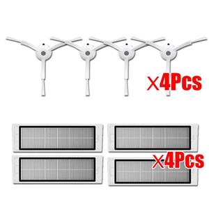 4hepa فلتر + 4 الجانب فرشاة مناسبة ل xiaomi mi روبوت مكنسة كهربائية أجزاء xiaomi فراغ 1/2 روبوروك S50 S51 الملحقات