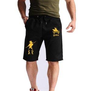 Shorts de coton de mode décontractée d'été de l'été Hot-vente pour hommes Just Break It Print Pantalons de survêtement Genou Shorts Fitness Court Jogger Y190508