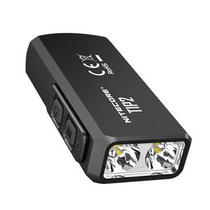100٪ الأصل البسيطة الخفيفة NITECORE TIP2 كري XP-G3 S3 720 التجويف USB قابلة للشحن كيشاين مضيا مع البطارية