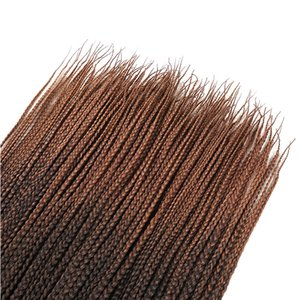 Crochet Braids Micro Box Braid Hair Extensions Ombre Kanekalon Synthetic Braiding Hair Crotchet Hair Bulk for American Women